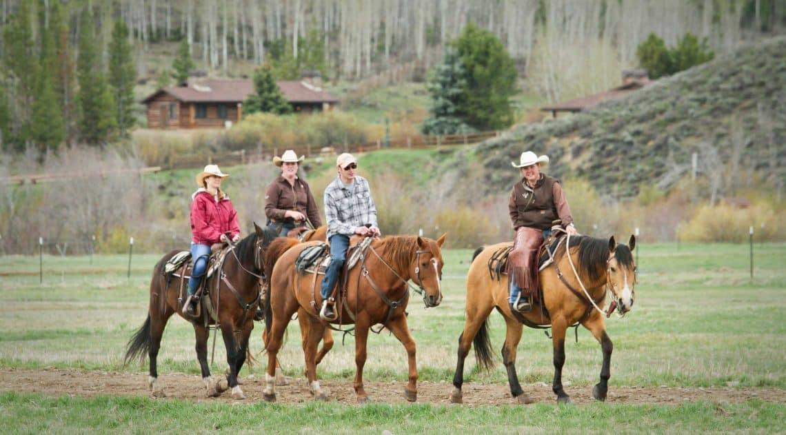 Horseback riding at C Lazy U Ranch