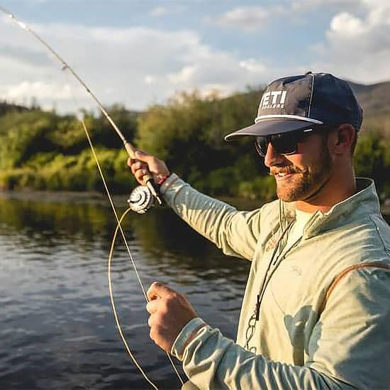 John Clark, expert fly fishing guide at C Lazy U Ranch