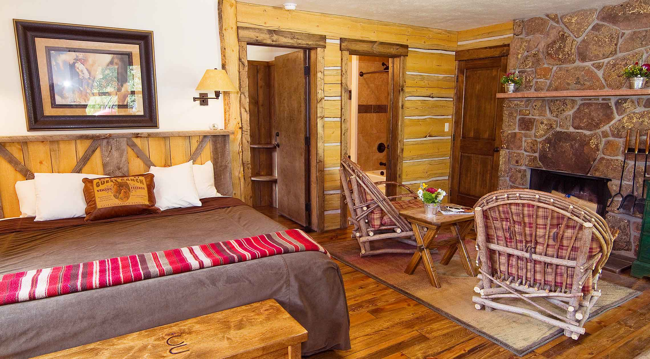 sunset cabin accommodations lodging at c lazy u guest ranch