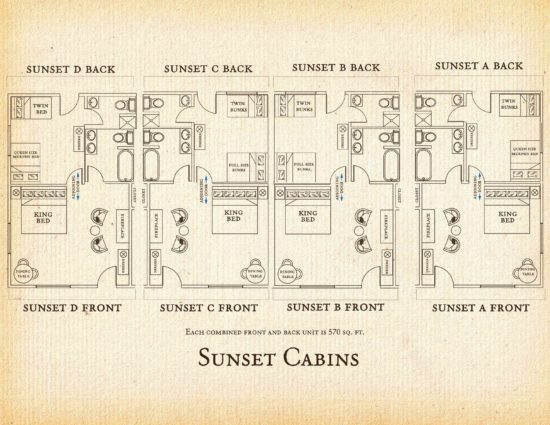 Floorplan for Sunset Cabin