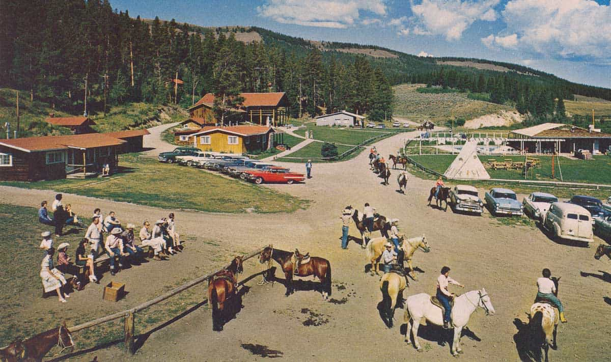 1950 postcard of the ranch