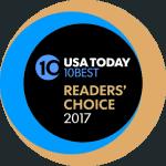 usa today 10 best 2017 award