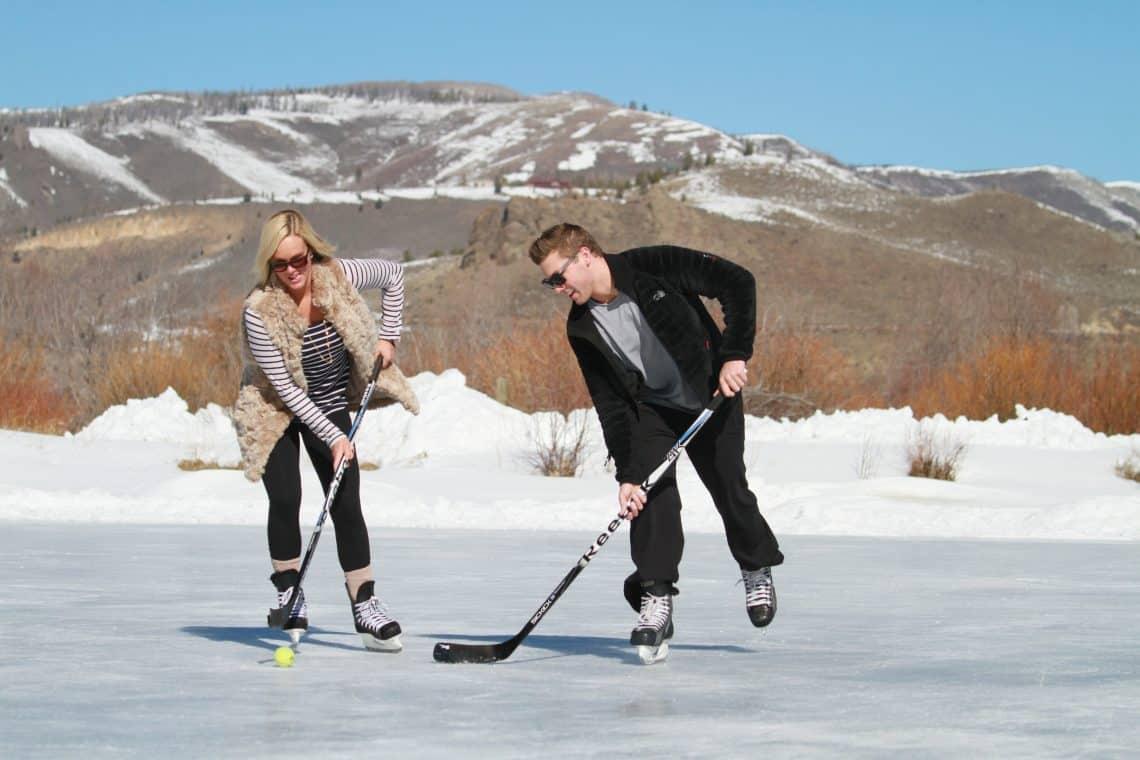 snow hockey