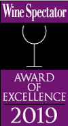 Wine Spectator Award of Excellence for 2019