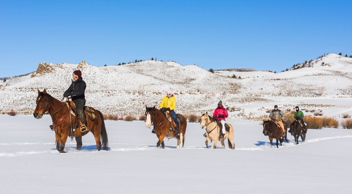 A nice sunny trail ride in the snow is a glorious way to experience winter in Colorado
